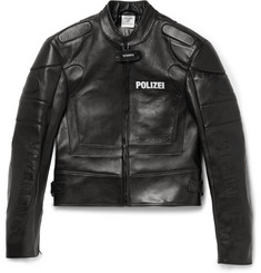 Vetements Polizei Panelled Leather Racing Jacket