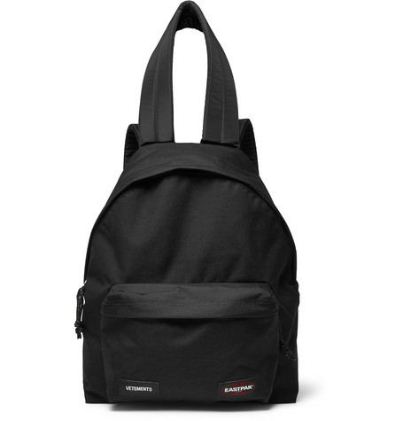 Vetements - + Eastpak Canvas Backpack - black