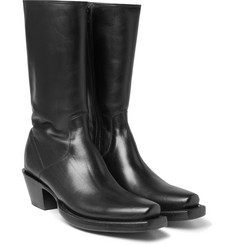Vetements - + Lucchese Cuban-Heel Leather Boots