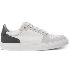 AMI Grained-Leather and Suede Sneakers