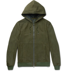 Balmain Nubuck Hooded Jacket