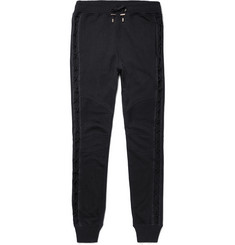 Balmain Slim-Fit Tapered Loopback Cotton-Jersey Sweatpants