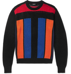 Balmain Crocheted Cotton Sweater