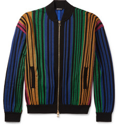 Balmain Striped Bomber Jacket