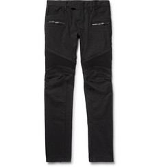 Balmain Slim-Fit Stretch-Denim Biker Jeans