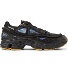 Raf Simons + adidas Originals Ozweego Bunny Rubber, Mesh and Leather Sneakers