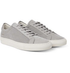 Common Projects - Achilles Perforated Nubuck Sneakers