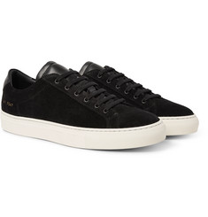 Common Projects - Achilles Retro Leather-Trimmed Suede Sneakers