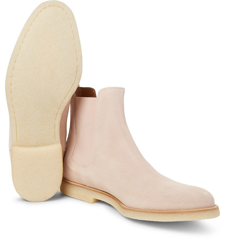 Common Projects Suede Chelsea Boots In Pink Light Pastel