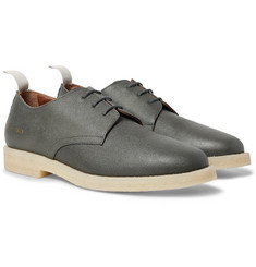 Common Projects - Cadet Pebble-Grain Leather Derby Shoes