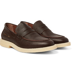 Common Projects - Pebble-Grain Leather Penny Loafers