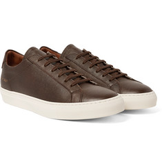 Common Projects - Achilles Pebble-Grain Leather Sneakers