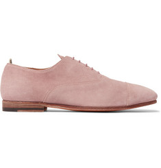 Officine Creative Cap-Toe Suede Derby Shoes
