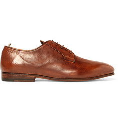 Officine Creative Revien Polished-Leather Derby Shoes