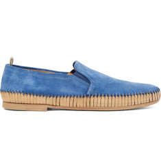 Officine Creative Maurice Shirred Suede Loafers