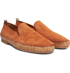 Officine Creative - Maurice Shirred Suede Loafers
