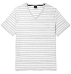 Hugo Boss Striped Stretch-Cotton T-Shirt