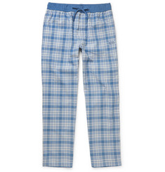 Hugo Boss - Checked Brushed Cotton-Twill Pyjama Trousers
