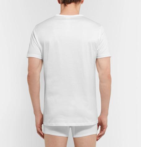 ERMENEGILDO ZEGNA Stretch-Modal T-Shirt