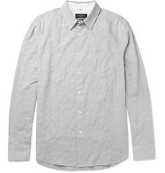 Rag & bone Beach Slim-Fit Puppytooth Stretch-Cotton Shirt