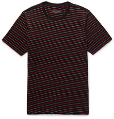 rag & bone Colin Striped Cotton-Blend Jacquard T-Shirt