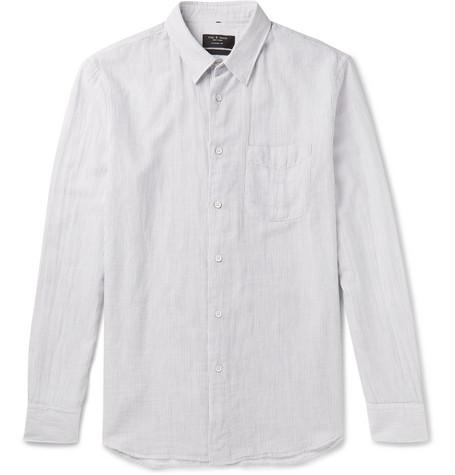 rag & bone Beach Pinstriped Cotton Shirt