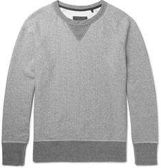 rag & bone Mélange Loopback Cotton-Jersey Sweatshirt