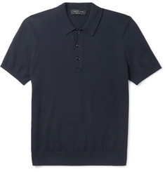 rag & bone Mason Cotton and Cashmere-Blend Polo Shirt