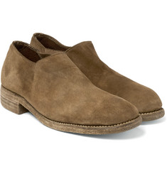 Guidi Stag Distressed Suede Shoes