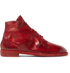 Guidi Textured-Leather Lace-Up Boots