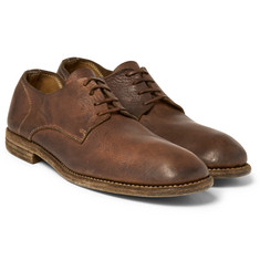 Guidi - Distressed Leather Derby Shoes