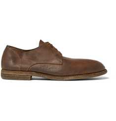 Guidi Distressed Leather Derby Shoes