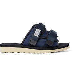 Suicoke Moto Suede, Nylon and Webbing Sandals