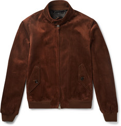 TOM FORD Slim-Fit Suede Harrington Jacket