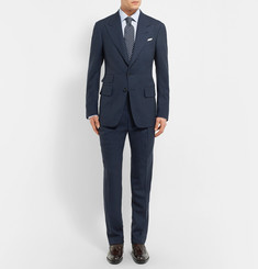 TOM FORD Blue Shelton Wool and Silk-Blend Blazer