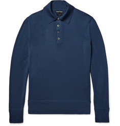 TOM FORD Knitted Wool Polo Shirt