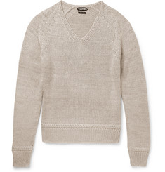 TOM FORD - Mulberry Silk and Mohair-Blend Sweater