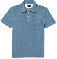 TOM FORD - Slim-Fit Cotton-Terry Polo Shirt
