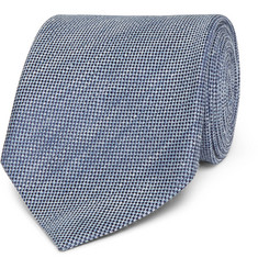 TOM FORD 8cm Slub Linen and Silk-Blend Tie
