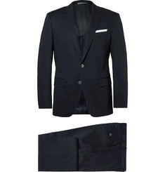 Hugo Boss Blue Hudson Slim-Fit Stretch-Cotton Suit