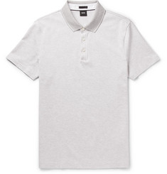 Hugo Boss - Contrast-Tipped Cotton-Jersey Polo Shirt