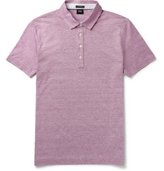 Hugo Boss - Mélange Cotton and Linen-Blend Jersey Polo Shirt