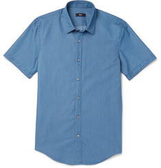 Hugo Boss Slim-Fit Washed Cotton-Chambray Shirt