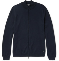 Hugo Boss Slim-Fit Cotton Zip-Up Sweater