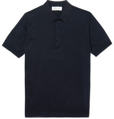 Tomorrowland Knitted Cotton and Silk-Blend Polo Shirt