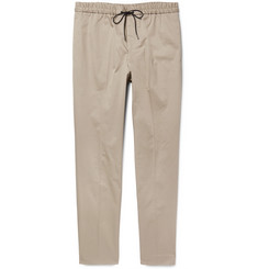 Tomorrowland - Slim-Fit Tapered Cotton-Blend Twill Drawstring Trousers