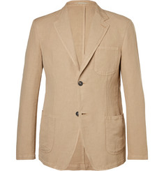 Massimo Alba Sand Slim-Fit Unstructured Linen and Cotton-Blend Blazer
