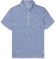 Massimo Alba Slim-Fit Striped Slub Linen Polo Shirt