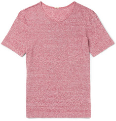 Massimo Alba Striped Slub Linen-Jersey T-Shirt