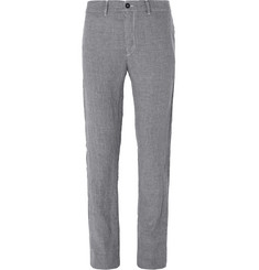 Massimo Alba Winch Slim-Fit Houndstooth Linen Trousers